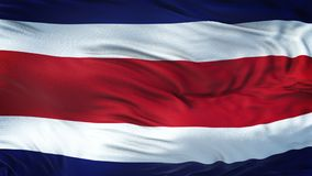 COSTA RICA Realistic Waving Flag Background Photos stock