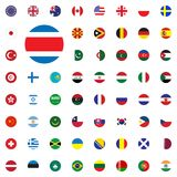 Costa Rica round flag icon. Round World Flags Vector illustration Icons Set. Costa Rica round flag icon. Round World Flags Vector illustration Icons Set Royalty Free Stock Photos