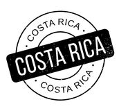 Costa Rica rubber stamp Stock Images