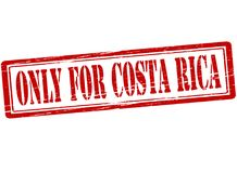 Only for Costa Rica. Rubber stamp with text only for Costa Rica inside,  illustration Royalty Free Stock Photo