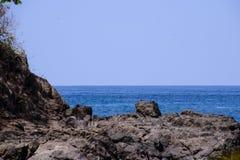 Costa Rica Shore Line con l'oceano Fotografia Stock