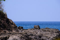 Costa Rica Shore Line med havet Arkivbild