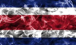 Costa Rica smoke flag. Isolated on a black background Royalty Free Stock Photo