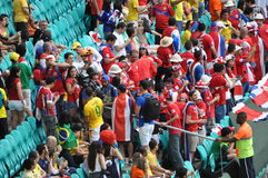 Costa Rica soccer fans at Arena Fonte Nova Stock Photography