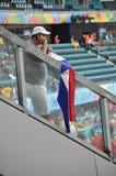 Costa Rica soccer fans at Arena Fonte Nova Royalty Free Stock Photo