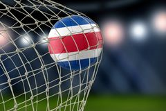 Costa Rica soccerball in net. Image of Costa Rica soccerball in net Stock Photo