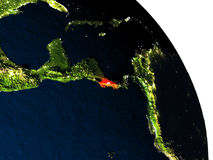 Costa Rica from space Royalty Free Stock Image