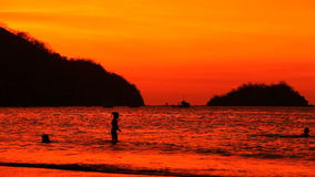 Costa Rica Sunset Playas del Coco 2 arkivfilmer