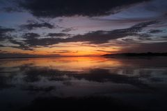 Costa Rica Sunset y playa Imagen de archivo libre de regalías