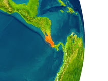 Costa Rica sur la planète illustration stock