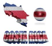 Costa Rica Symbols Royalty Free Stock Photo