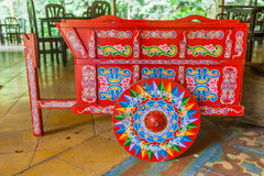 Costa Rica. Traditional decorated,Costa Rican ox cart Stock Image