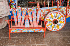 Costa Rica - Typical Decorated And Painted Ox Cart Stock Images