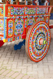 Costa Rica - Typical Decorated And Painted Ox Cart Royalty Free Stock Images