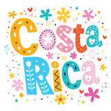 Costa Rica vector lettering decorative type Stock Photography
