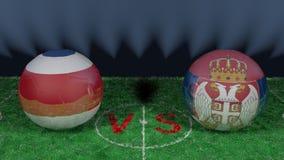 Costa Rica versus Serbia 2018 FIFA puchar świata Oryginalny 3D wizerunek Fotografia Stock