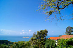Costa Rica View. A view of the bay near the Manuel Antonio National Park, Costa Rica Royalty Free Stock Image