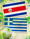 Costa Rica vs Greece soccer concept Royalty Free Stock Photography