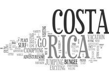 Costa Rica Word Cloud aventureux Photographie stock libre de droits