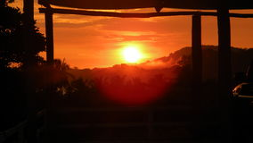 Costa Ricaanse Zonsondergang Royalty-vrije Stock Afbeelding