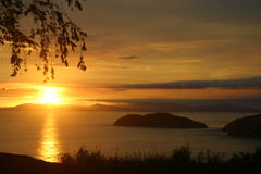 Costa Ricaanse Zonsondergang Royalty-vrije Stock Foto