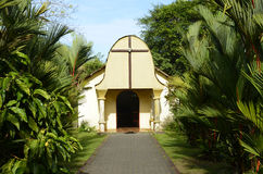 Costa Rican Chapel. Image of a small chapel located in the center of the village of Tortuguero, Costa Rica Royalty Free Stock Photos