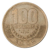 Costa Rican Colones coin Stock Image