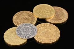 Costa Rican Colones Coins Stock Photo