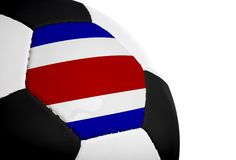 Costa Rican Flag - Football Stock Photo