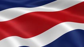 Costa Rican flaga w wiatrze ilustracja wektor