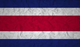 Costa Rican flaga z skutkiem zmięty papier i grunge ilustracja wektor