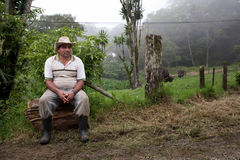 Costa Rican Hilfsarbeiter Lizenzfreie Stockfotos