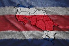 Costa Rican Map stock de ilustración