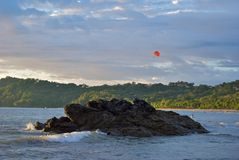 Costa Rican Parasailer Royalty Free Stock Photos