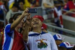 Costa Rican piłki nożnej fan Zdjęcia Royalty Free