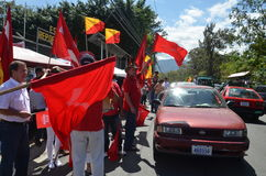 Costa Rican Presidential-Wahlen 2014: Temperatur in den Straßen Stockbild