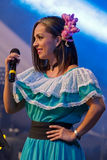Costa Rican singer in traditional costume Stock Photos