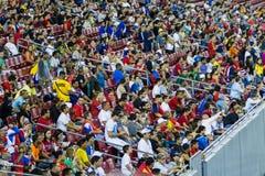 Costa Rican soccer fans Royalty Free Stock Photos