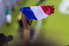 Costa Rican soccer fans Stock Photo