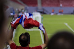 Costa Rican soccer fans Stock Image