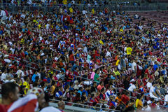 Costa Rican soccer fans Royalty Free Stock Photo