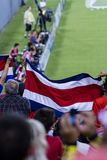 Costa Rican soccer fans Royalty Free Stock Images