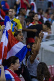 Costa Rican soccer fans Royalty Free Stock Photography