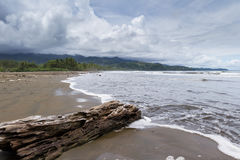 Costa Rican south pacific beach Stock Images