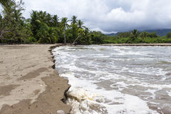 Costa Rican south pacific beach Royalty Free Stock Photography