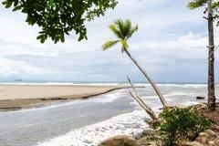 Costa Rican south pacific beach Royalty Free Stock Photos