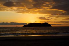 Costa Rican Sunset Royalty Free Stock Images