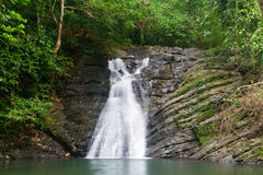 Costa Rican waterfall stock photography