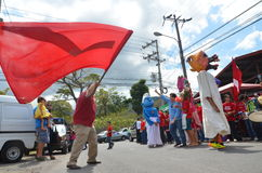 Costa Rican wybór prezydenci 2014:  taniec na ulicie Obrazy Royalty Free
