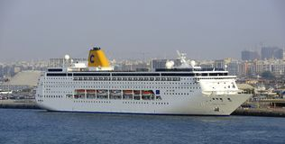 Costa Riviera in Port Rashid Stock Images